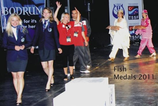 Category fish: Silvia Boccato (Gold Medal), Lill Haugen (Silver Medal), Orhan Aytür (Bronze Medal)