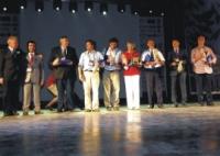 The jury from right to left: Alptekyn Balodlu, Byung Doo Lee, André Ruoppolo, Cathy Church, Arne Hodalic, Magnus Lundgren, Milan Czapay, Soner Yarkin, Juergen Warnecke