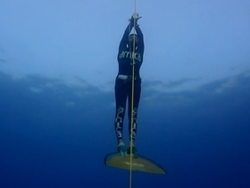 New Variable Weight without Fins World Record from Mrs. Derya CAN - Kas, Antalya,Turkey