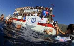 New World Record of Free Immersion Apnea - Kas, Antalya, Turkey
