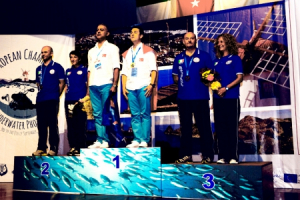 Champions of the total rank - From left to right: Michele Davino/Italy, Cenk Ceylanoglu/Turkey, Stefano Gradi/Italy