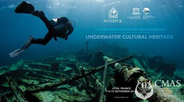 Participation Of Jean Louis Blanchard Vice President Of Cmas In The 1st Conference On The Protection Of Underwater Cultural Heritage Interpol Headquarters